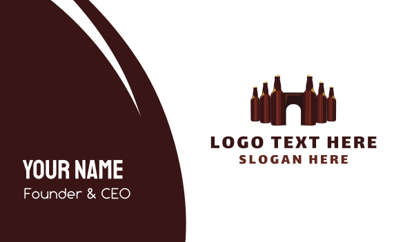 booze - Beer Castle Business card horizontal design