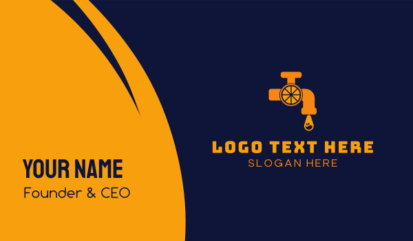 tap - Orange Tap  Business card horizontal design