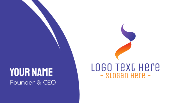 activity - Gradient Purple Orange Flame Business card horizontal design