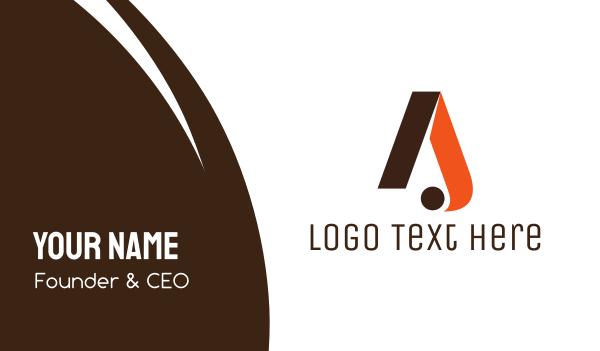 vogue - Elegant Orange A Business card horizontal design