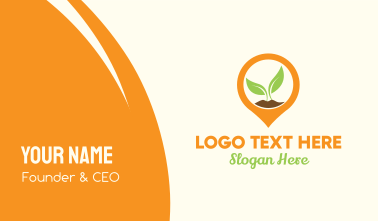 Plant Location Pin Business Card