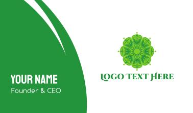 Green Mandala Business Card