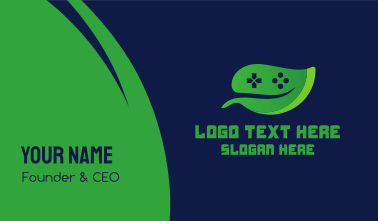 Video Game Leaf Business Card