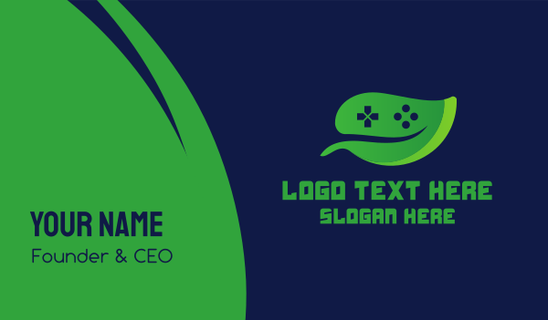 game review - Video Game Leaf Business card horizontal design