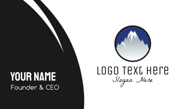 Mountain Snowcapped Alps Business Card