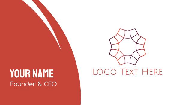 aesthetic - Gradient Star Business card horizontal design