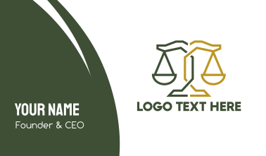Geometric Attorney Lawyer Justice Business Card