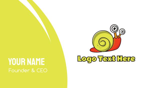 pest - Yellow & Orange Snail  Business card horizontal design