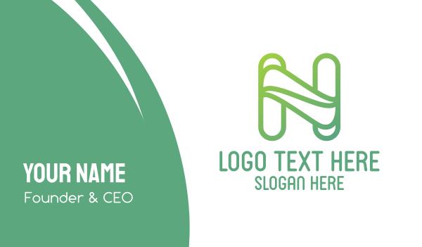 mother nature - Leaf N Outline  Business card horizontal design