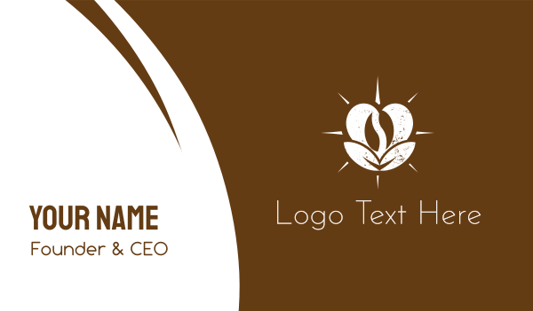 latte - Love Coffee Business card horizontal design