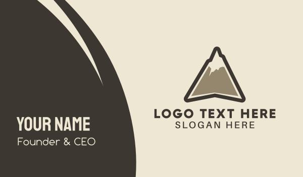 ski - High Mountain Peak Business card horizontal design