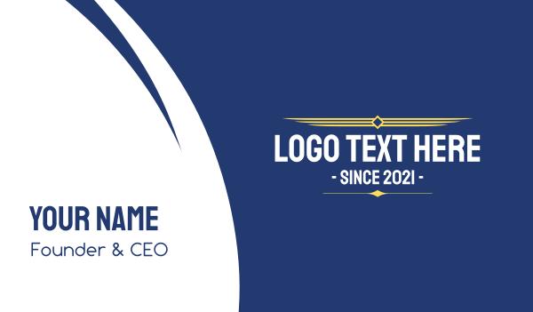 security - Military Aviation Text Business card horizontal design