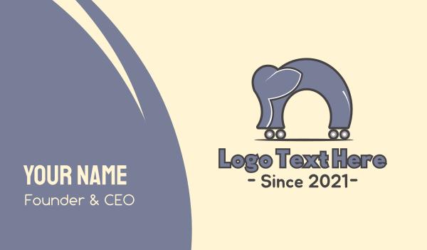 skating - Elephant Skate Park Business card horizontal design