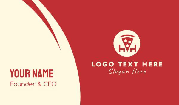 takeaway - Pizza Restaurant Business card horizontal design