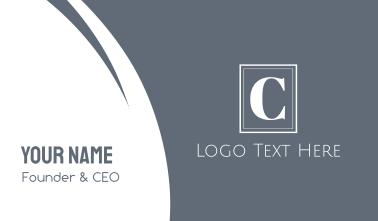 Elegant White C Business Card