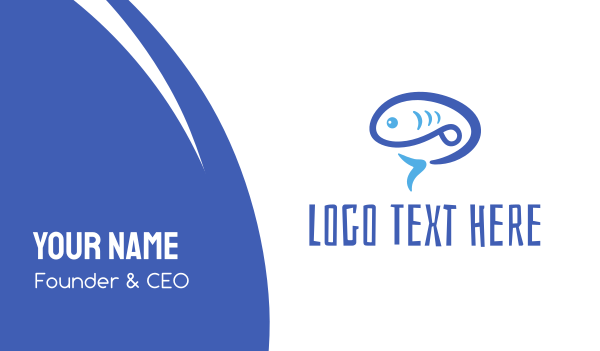 blue fish - Blue Fish Business card horizontal design