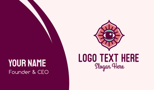 mystical - Spiritual Flower Eye Business card horizontal design