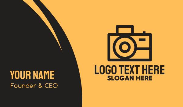 electronics store - Photographer Camera  Business card horizontal design