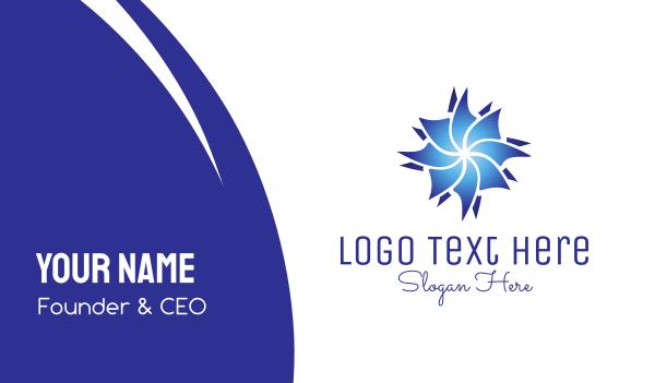 blossom - Blue Flower Business card horizontal design