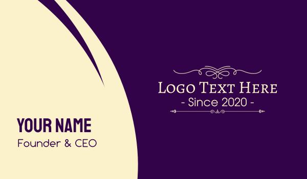 distiller - Luxurious Ornamental Wordmark Business card horizontal design