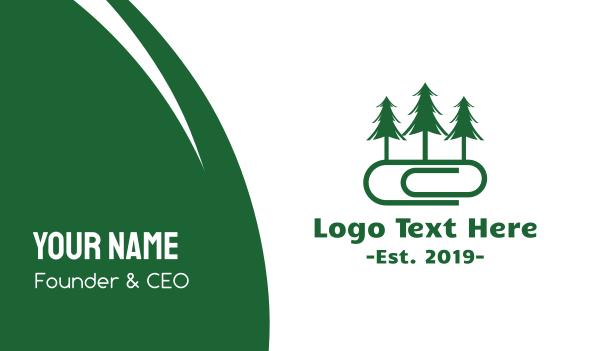 arborist - Forest Office Business card horizontal design