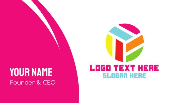 custom - Modern Rainbow Circle Business card horizontal design