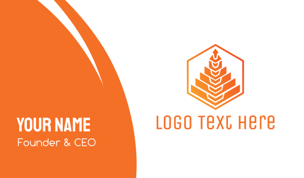 orange tree - Orange Tree Polygon Business card horizontal design