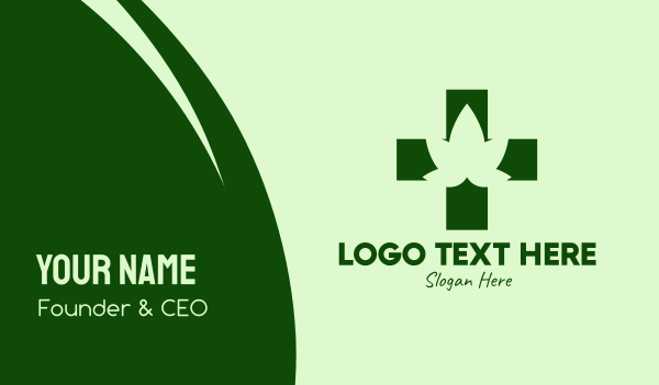 medical cannabis - Medical Marijuana Cross  Business card horizontal design