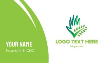 Lawn Plant Care  Business Card