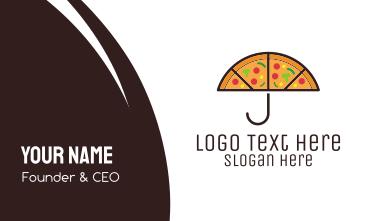 Umbrella & Pizza Business Card