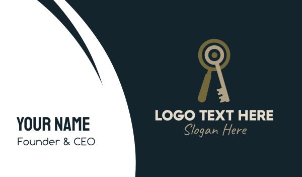keyhole - Key Magnifying Lens Business card horizontal design