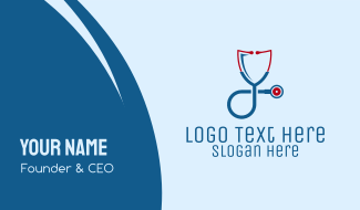 Shield Medical Doctor Stethoscope Business Card