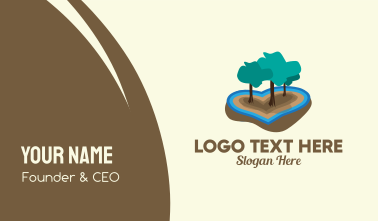 Love Island Forest  Business Card