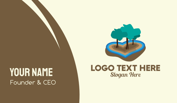 biological - Love Island Forest  Business card horizontal design