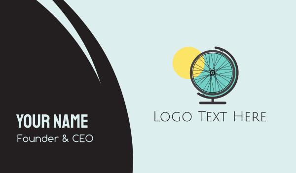 global business - Bike World Business card horizontal design
