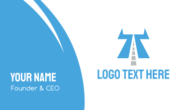 Highway Letter T Business Card