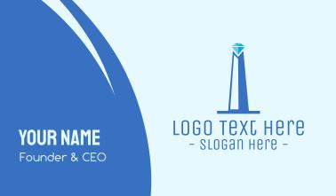 Diamond Obelisk Business Card