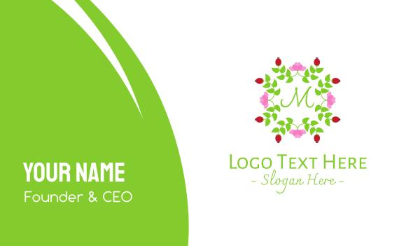 arrangement - Beauty Floral Wreath Business card horizontal design