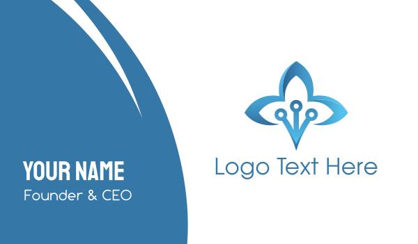 reiki - Blue Lotus Business card horizontal design