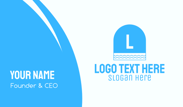 hospitality - Blue Seaside Window Letter Business card horizontal design