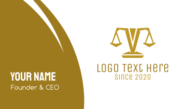 Gold Polygon Scale Business Card