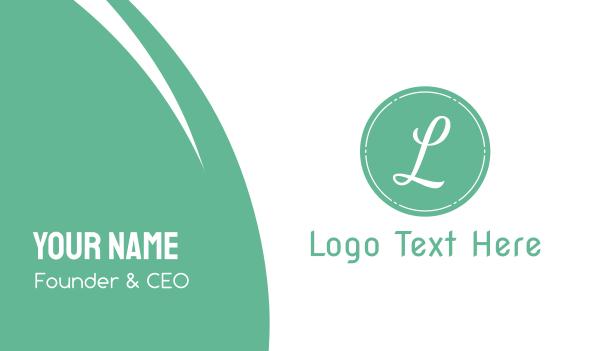 elegance - Shabby Chic L Circle Business card horizontal design