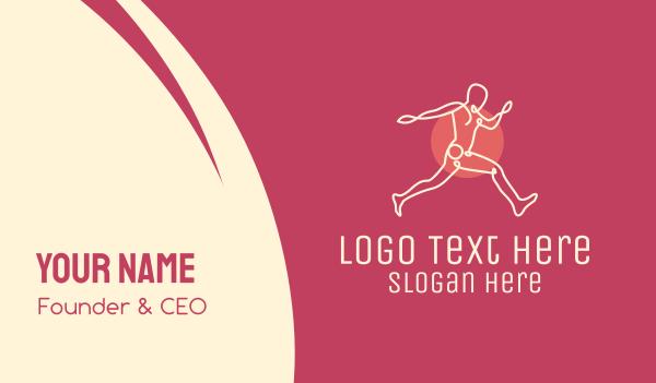 physique - Monoline Active Man Business card horizontal design