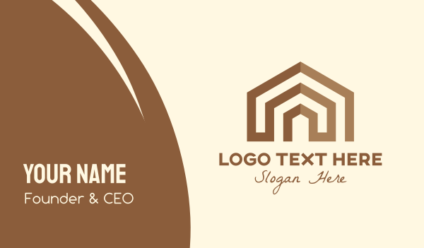 home lease - Brown Abstract Home Business card horizontal design
