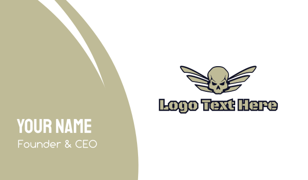 skeletal - Skull Wing Gaming Business card horizontal design