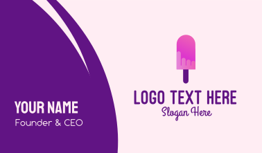 Ice Cream Popsicle Business Card