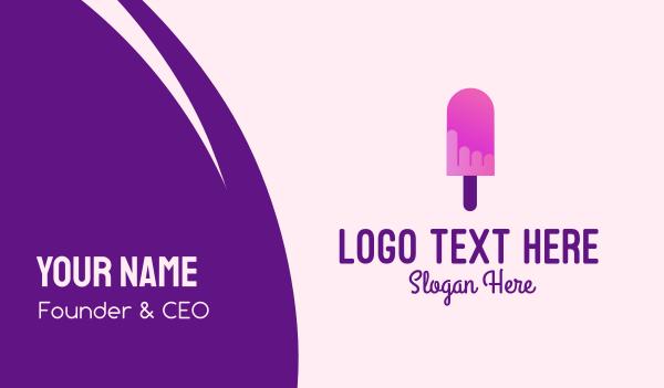 stick - Ice Cream Popsicle Business card horizontal design