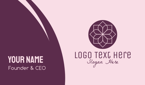 floral design - Minimalist Flower Spa Business card horizontal design