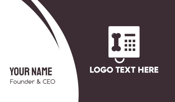 pet care - Pet Bone Phone Business card horizontal design