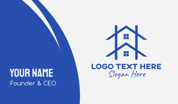 home depot - House Roofing Outline Business card horizontal design